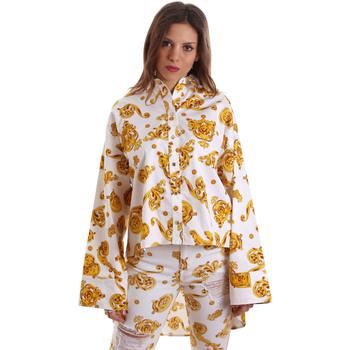Textil Mulher camisas Versace B0HVB624S0771003 Branco