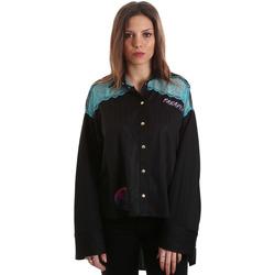 Textil Mulher camisas Versace B0HVB60310623899 Preto