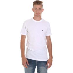 Textil Homem T-Shirt mangas curtas Les Copains 9U9011 Branco