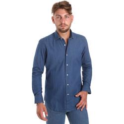 Textil Homem Camisas mangas comprida Betwoin DENIM78 6635535 Azul