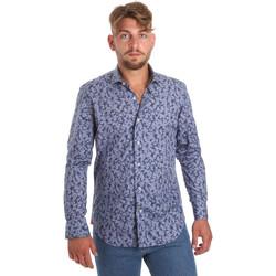 Textil Homem Camisas mangas comprida Betwoin D066 6635535 Azul