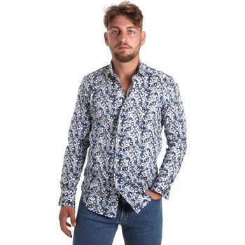 Textil Homem Camisas mangas comprida Betwoin SELZ 6635535 Azul
