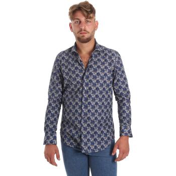 Textil Homem Camisas mangas comprida Betwoin DB111 Azul