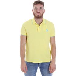 Textil Homem Polos mangas curta U.S Polo Assn. 58561 41029 Amarelo