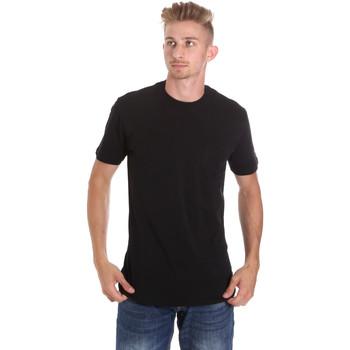 Textil Homem T-Shirt mangas curtas Les Copains 9U9010 Preto