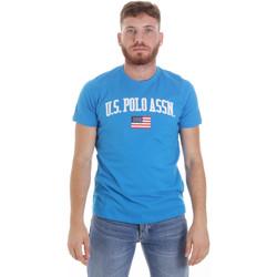 Textil Homem T-Shirt mangas curtas U.S Polo Assn. 57117 49351 Azul