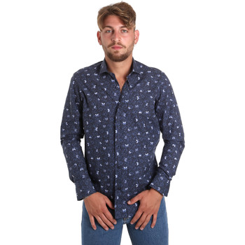 Textil Homem Camisas mangas comprida Betwoin D092 6635535 Azul