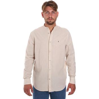 Textil Homem Camisas mangas comprida Les Copains 9U2722 Bege
