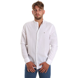 Textil Homem Camisas mangas comprida Les Copains 9U2722 Branco