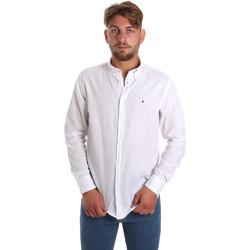 Textil Homem Camisas mangas comprida Les Copains 9U2371 Branco