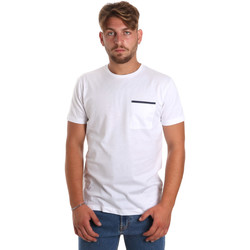 Textil Homem T-Shirt mangas curtas Antony Morato MMKS01798 FA100212 Branco