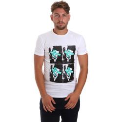 Textil Homem T-Shirt mangas curtas Antony Morato MMKS01743 FA120001 Branco