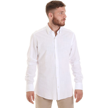 Textil Homem Camisas mangas comprida Les Copains 20P.689 P700SL Branco