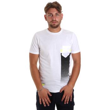 Textil Homem T-Shirt mangas curtas Antony Morato MMKS01794 FA100189 Branco