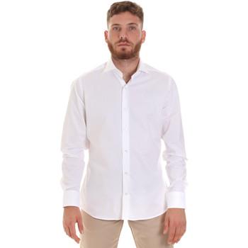 Textil Homem Camisas mangas comprida Les Copains 000.076 P3196 Branco