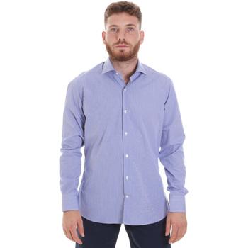 Textil Homem Camisas mangas comprida Les Copains 20P.621 P3196SL Azul