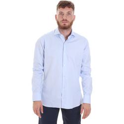 Textil Homem Camisas mangas comprida Les Copains 20P.887 P3196SL Azul