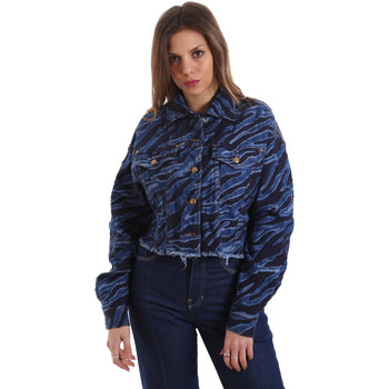 Textil Mulher casacos de ganga Versace C0HVB939AQC5Q904 Azul