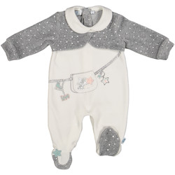 Textil Criança Macacões/ Jardineiras Melby 20N0781 Branco