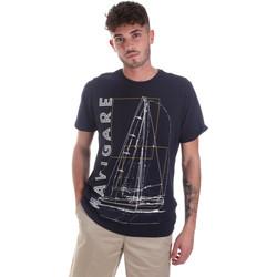 Textil Homem T-Shirt mangas curtas Navigare NV31109 Azul