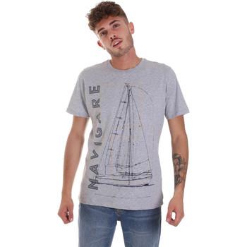 Textil Homem T-Shirt mangas curtas Navigare NV31109 Cinzento