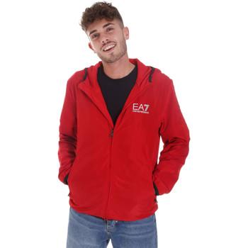 Textil Homem Casacos fato de treino Ea7 Emporio Armani 8NPB04 PNN7Z Vermelho