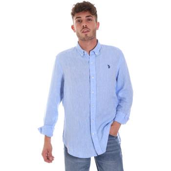 Textil Homem Camisas mangas comprida U.S Polo Assn. 58574 50816 Azul