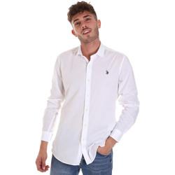 Textil Homem Camisas mangas comprida U.S Polo Assn. 58835 50655 Branco