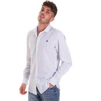 Textil Homem Camisas mangas comprida U.S Polo Assn. 58829 52741 Azul