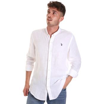 Textil Homem Camisas mangas comprida U.S Polo Assn. 58667 50816 Branco