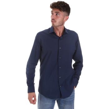 Textil Homem Camisas mangas comprida Les Copains 18P.884 P3196SL Azul