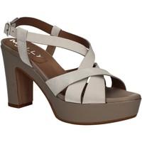 Sapatos Mulher Sandálias Mally 5744 Prata