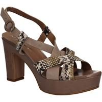 Sapatos Mulher Sandálias Mally 5832 Castanho