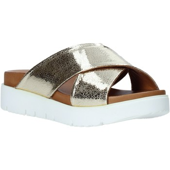 Sapatos Mulher Chinelos Bueno Shoes 9N3408 Ouro