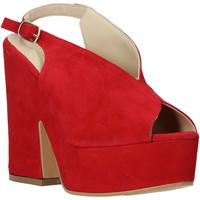 Sapatos Mulher Sandálias Esther Collezioni ALBA 107 Vermelho