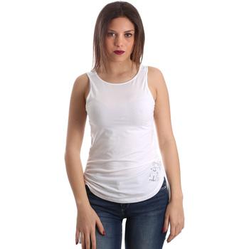 Textil Mulher Tops sem mangas Emporio Armani EA7 3GTH54 TJ28Z Branco