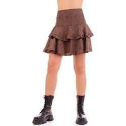 Textil Mulher Saias Vicolo TW0723 Castanho
