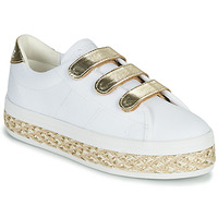 Sapatos Mulher Sapatilhas No Name MALIBU STRAPS Branco / Ouro
