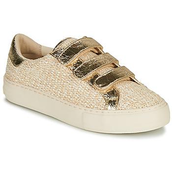 Sapatos Mulher Sapatilhas No Name ARCADE STRAPS Bege / Ouro