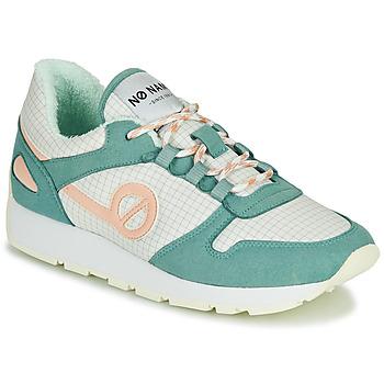 Sapatos Mulher Sapatilhas No Name CITY OPEN Verde / Rosa