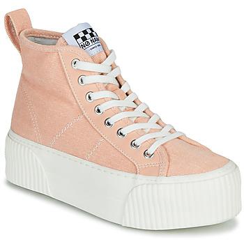 Sapatos Mulher Sapatilhas de cano-alto No Name IRON MID Rosa