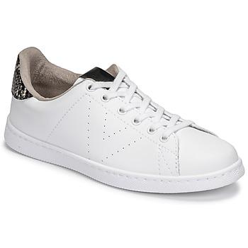 Sapatos Mulher Sapatilhas Victoria TENIS VEGANA SERPIENTE Branco / Preto
