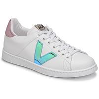 Sapatos Mulher Sapatilhas Victoria TENIS VEGANA VINI Branco / Azul / Rosa