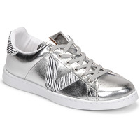 Sapatos Mulher Sapatilhas Victoria TENIS METALIZADO Prata