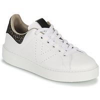 Sapatos Mulher Sapatilhas Victoria UTOPIA GLITTER Branco / Castanho