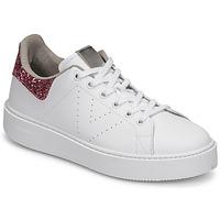 Sapatos Mulher Sapatilhas Victoria UTOPIA GLITTER Branco / Rosa