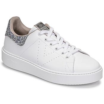 Sapatos Mulher Sapatilhas Victoria UTOPIA GLITTER Branco / Prata
