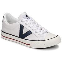 Sapatos Sapatilhas Victoria TRIBU LONA CONTRASTE Branco / Azul
