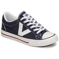 Sapatos Sapatilhas Victoria TRIBU LONA CONTRASTE Azul