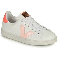 Sapatos Rapariga Sapatilhas Victoria TENIS VEGANA CONTRASTE Branco / Rosa